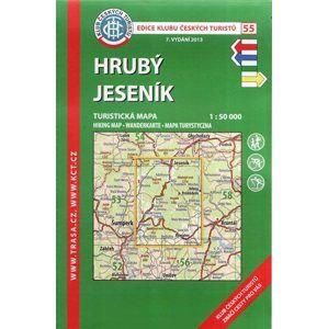 Hrubý Jeseník - mapa KČT č.55 - 1:50t