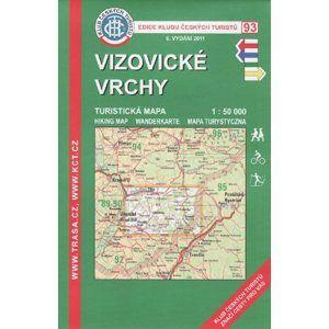 Vizovické vrchy - mapa KČT č.93 - 1:50t