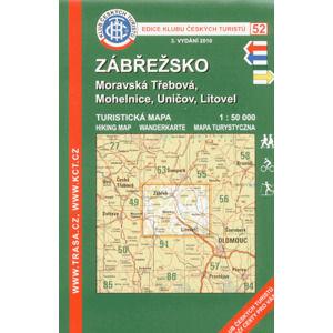 Zábřežsko - mapa KČT č.52 - 1:50t