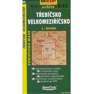 Třebíčsko, Velkomeziříčsko - mapa SHc50 - 1:50t