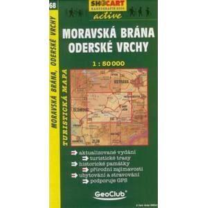Moravská brána, Oderské vrchy - mapa SHc68 - 1:50t