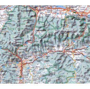 Slovenská republika - 1:400 000 - nástěnná mapa /BB Kart/