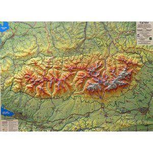 Tatry - reliéfní nástěnná mapa - 1:66 666