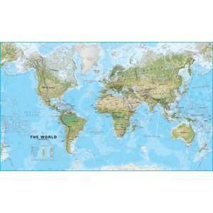Svět obří - fyzický - 1:20 000 000 - nástěnná mapa