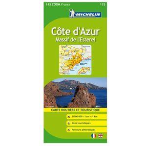 Francie - Cote dAzur - Massif de lEsterel - mapa Michelin č.115 - 1:100 000