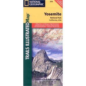 USA - Yosemite National Park - mapa National Geographic 1:100 000