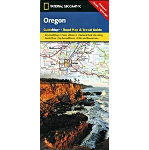 Oregon - mapa National Geographic