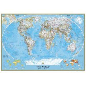 Svět - nástěnná politická mapa Classic 111 x 77 cm
