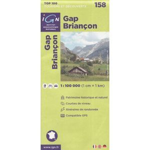 Gap Briancon 1:100 000 Cyklomapa IGN
