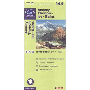 Annecy Thonon-les-Bains 1:100 000 Cyklomapa IGN