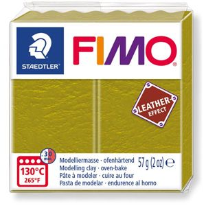 FIMO LEATHER efekt - olivová zelená