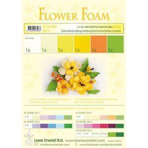 Speciální pěnová guma na výrobu květin A4 - žluté barvy