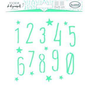 Plastová šablona Aladine - Čísla