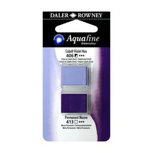 Umělecká akvarelová barva Daler-Rowney Aquafine - dvojbalení - Kobalt fialový/ Mauve