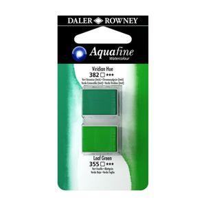 Umělecká akvarelová barva Daler-Rowney Aquafine - dvojbalení - Viridian/ Listová zeleň