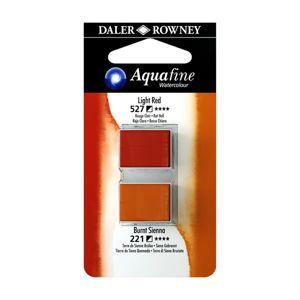 Umělecká akvarelová barva Daler-Rowney Aquafine - dvojbalení - Čevená sv./ Sienna tm.