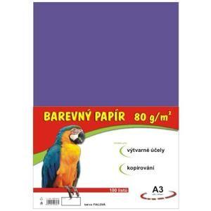 Barevný papír A3 80g - 100 ks - fialový