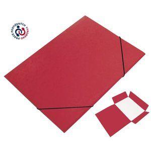 CAESAR OFFICE Odkládací mapa A4 tříklopá s gumou prešpán - červená
