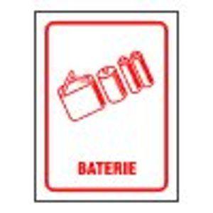 Separovaný odpad - Baterie - 12×16/ fólie
