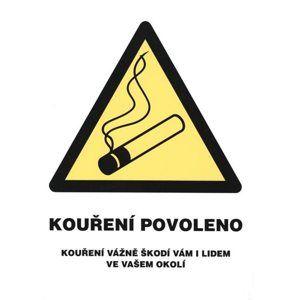 Kouření povoleno (označení restaurací) - 21x28 / samolepící folie