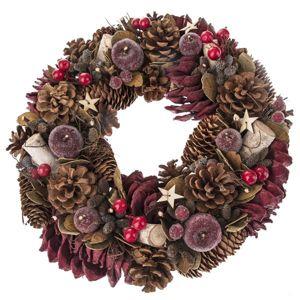 Dekorativní vánoční věnec - přírodní