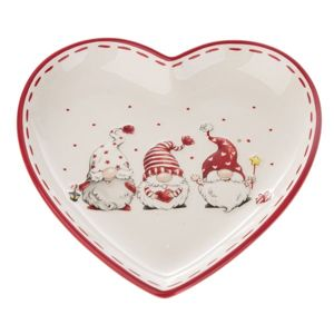 Keramický talíř Trpaslíci - srdce