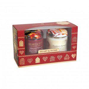 Albi Vánoční sada 2 malých svíček Heart & Home