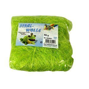 Sisalové vlákno 50 g - barva světle zelená