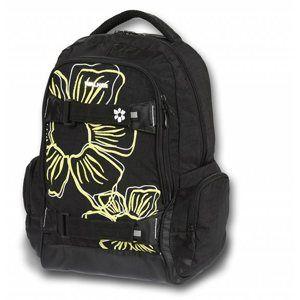 Studentský batoh - Flowers černá