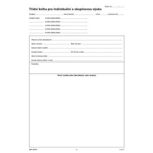 Třídní kniha pro individuální a skupinovou výuku