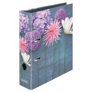 Herlitz Pořadač A4/8 cm lamino - Mix květů