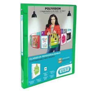 ELBA Polyvision Pořadač A4 PP 4 kroužky 3 cm - zelená