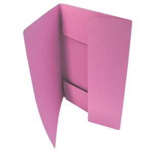 HIT Odkládací mapa A4 tříklopá Classic - růžová