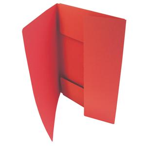 HIT Odkládací mapa A4 tříklopá Classic - červená