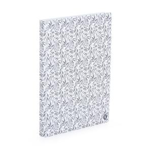 Karis blok A4, PVC - white leaves
