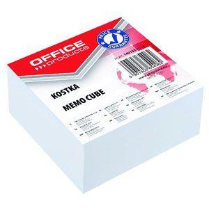 Poznámkový papír náhradní 85x85x40 mm, lepený - bílá