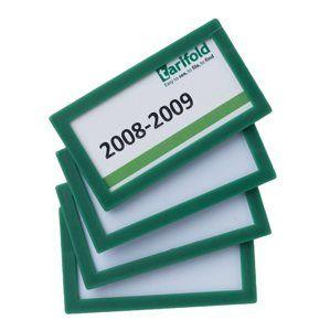 Display Frame samolepicí rámeček 80 x 45 mm, 4 ks - zelený