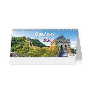 Kalendář stolní 2020 - Obrázky ze světa/Obrázky zo světa
