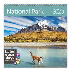 Kalendář nástěnný 2020 Label your days - National Parks