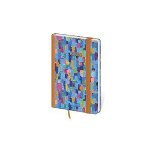 Diář 2020 týdenní kapesní Vario - Colours s gumičkou