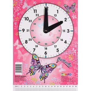 Školní hodiny Emipo - Butterfly