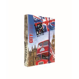 Desky na sešity s boxem A4 JUMBO - Londýn