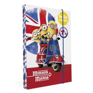 Karton PP Desky na sešity s boxem A5 - Mimoni UK