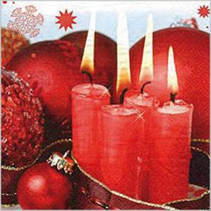 Stil Ubrousky 33 x 33 Vánoce - Červené svíčky