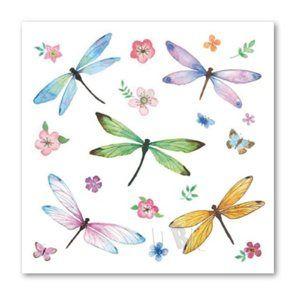 Stil Ubrousky 33 x 33 dekorativní - Vážky barevné