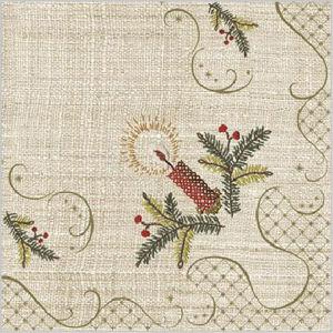 Stil Ubrousky 33 x 33 Vánoce - režné s vánoční výšivkou