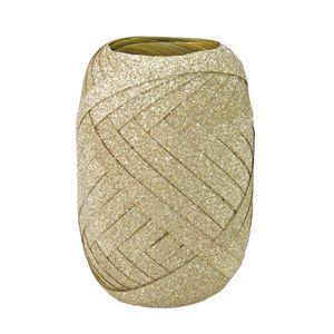 Dárková stuha 10 m × 5 mm - zlatá glitter