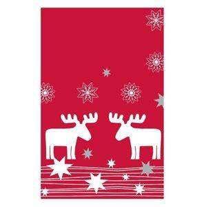 Vánoční ubrus 80 x 80 cm, papírový - Elmar/sob
