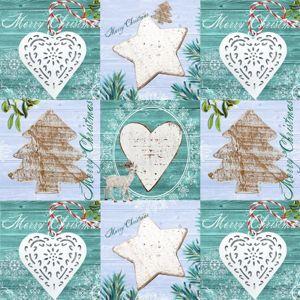 Vánoční ubrousky 33 x 33 cm, 20 ks - Ledové kouzlo