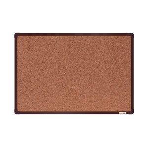 BoardOK Korková tabule s hliníkovým rámem 60 × 90 cm, hnědý rám
